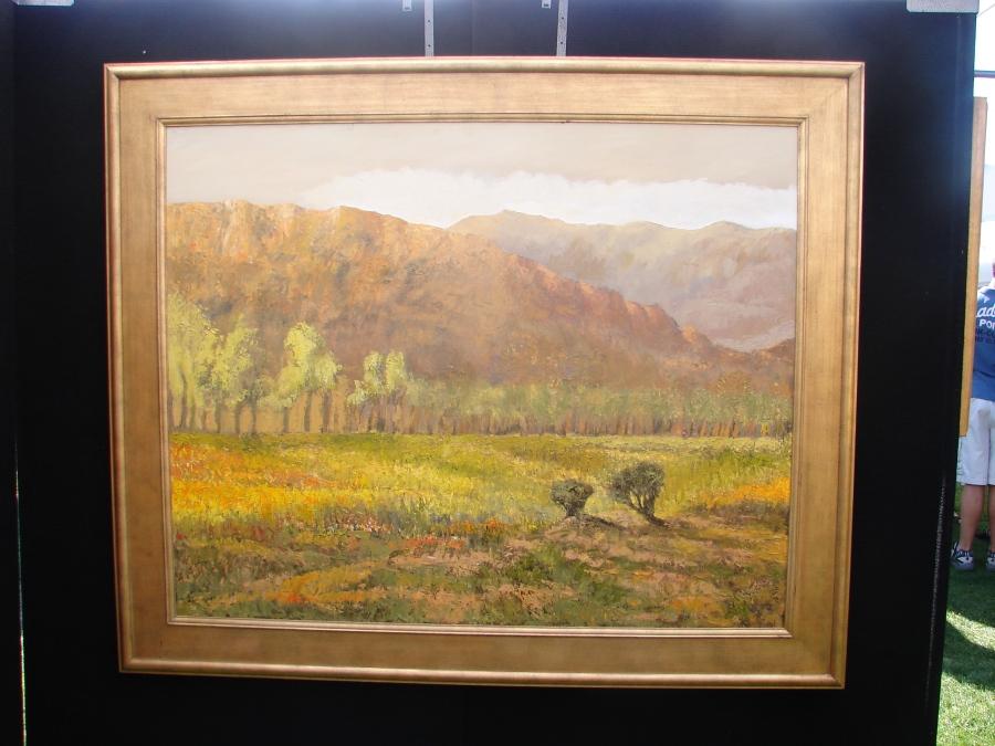 Desert Landscape with molded frame - no visible joints.