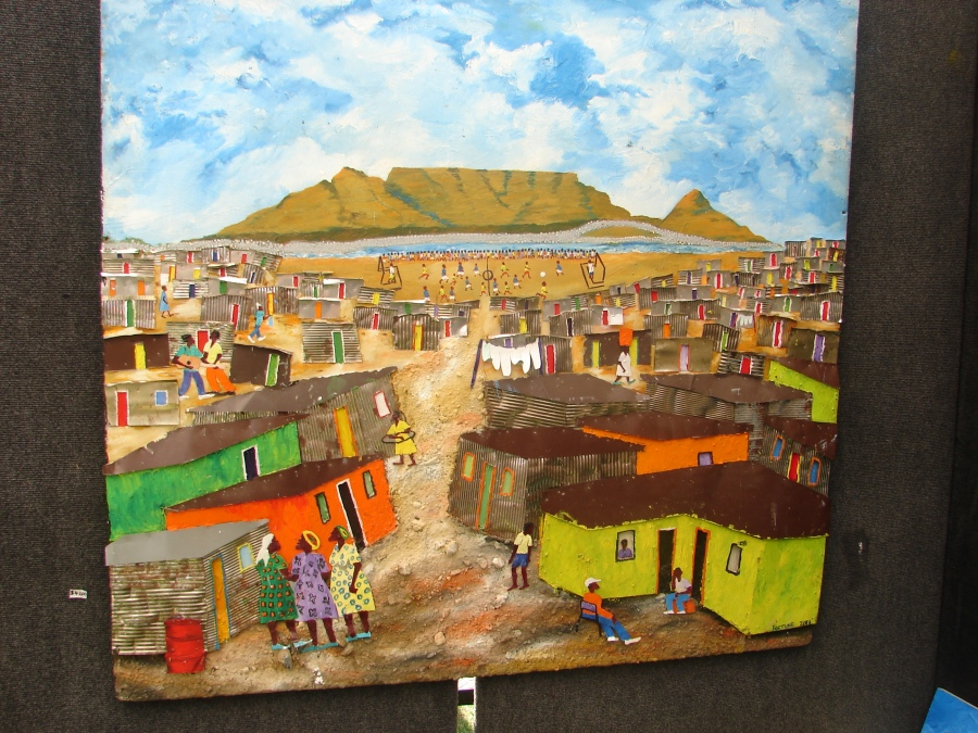 Mixed media - S. African artist.