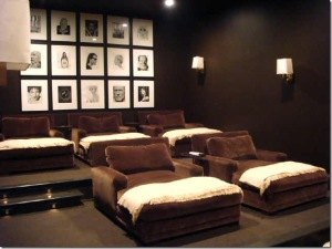 A lovely home theatre - but not mine.