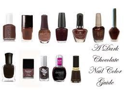 chocolate shades of nail polish