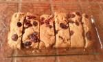 Orange Cranberry  breakfast cake sliced