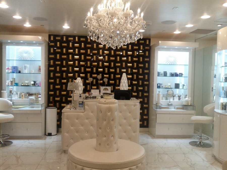 Love the chandelier from this place that does facials in Las Vegas.