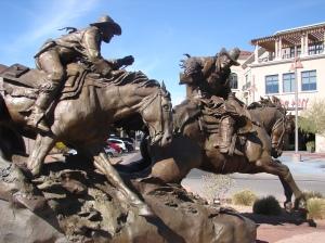 bronze cowboys - pony express.