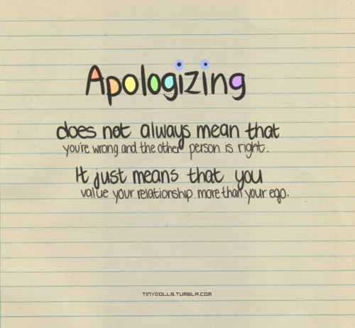Providing there is something to apologize about.