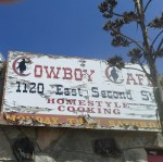 Cowboy Cafe sign