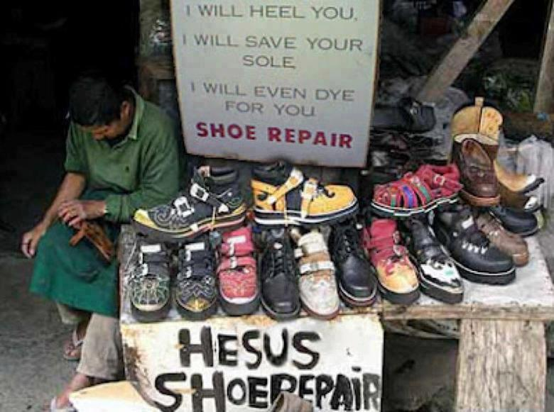 shoe repair  Africa - on the light side of our soles