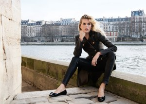 Alexandra Richards in Paris.  Photo from Ferregamo Website.