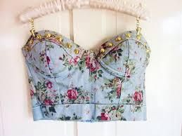 floral bustier