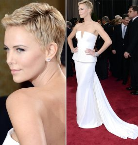 Red carpet white - 2013 Oscars - Charlize Theron