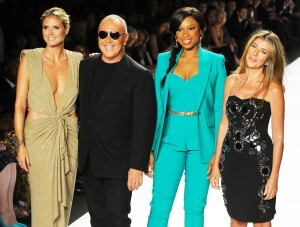 Kors with Project runway panel Heidi Klum, Jennifer Hudson & Nina Garcia.