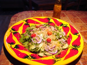 Quinoa Salad with Arugula, etcd.