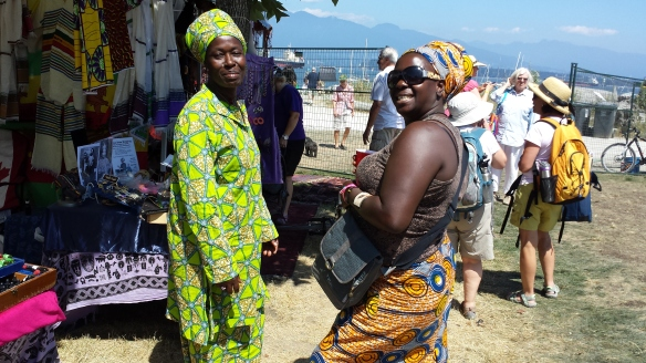 These women are from  the Republic of Ghana, Africa.  Their booth was lovely.