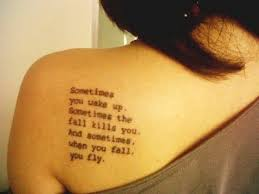 sometimes when you fall you fly