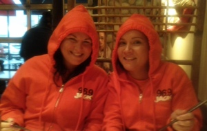 Two coneheads - at Sushi Sen