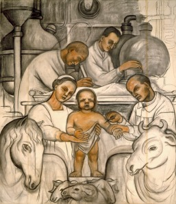 Vaccination (Detroit Industry north wall), (1932) by Diego Rivera