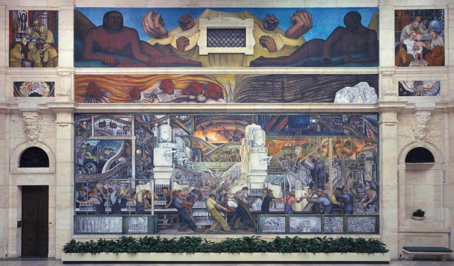 Diego Rivera's Detroit Industry (partial view) 1933.