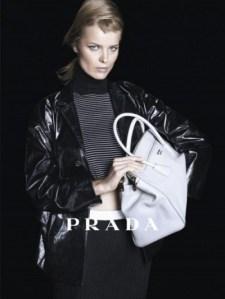 Eva Herzigova in Prada Ad from last Spring.