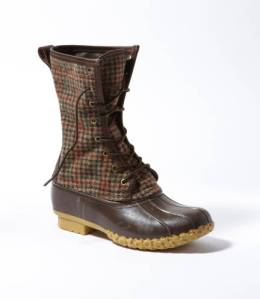 "Signature L.L. Bean Boot, Wool Houndstooth 10"", $159; llbean.com/llbeansignature"