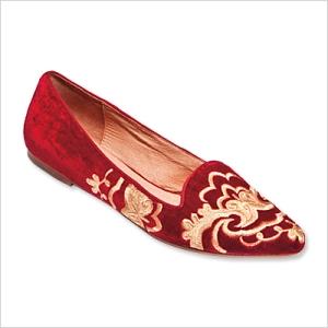 Joie Slippers Embroidered velvet, $235; zappos.com.