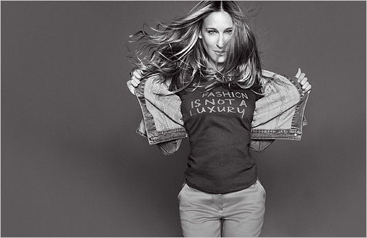 SJP - because she's quirky a lot of the time but it suits her.
