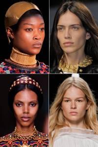 Clockwise from upper left: Alexander McQueen, Balmain, Isabel Marant, Valentino – for Elle.com