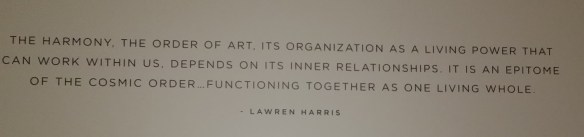 From the Lauren Harris exhibit at the Vancouver Art Gallery 03/30/14