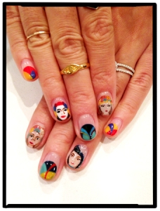 the ARTful nail - as seen in Allure Magazine.  Who has the time?