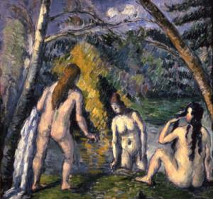 Three Bathers, 1879-82 Oil on canvas 21 7/16 x 20 5/16 in. (55 x 52 cm) Petit Palais, Musée des Beaux-Arts de la Ville de Paris