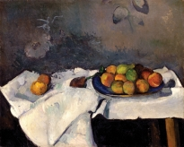 Still Life: Plate of Peaches, 1879-80. Oil on canvas, 59.7 x 73.3 cm. Solomon R. Guggenheim Museum, New York, Thannhauser Collection, Gift, Justin K. Thannhauser 78.2514.4