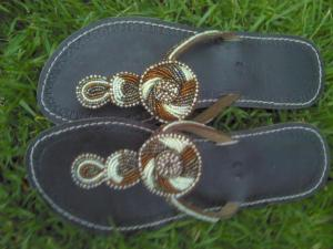 I bought so many pairs of these leather/beaded sandals in Tanzania.