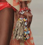 A beaded clutch