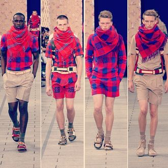 Louis Vuitton's take on the traditional Masai blanket.