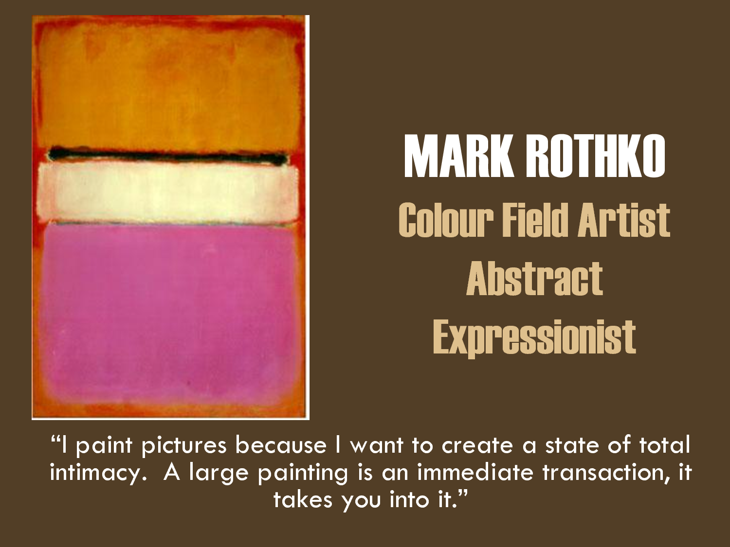 an analysis of the works of mark rothko and jackson pollock Qian, a 75-year-old chinese immigrant, made flawless copies of modern art masterpieces by jackson pollock, mark rothko, robert motherwell, and others in his workshop in interpol's works of art unit fights art crime alongside similar units devoted to drugs, human trafficking, and international fugitives.