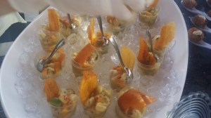 Individual Ceviches with mango.