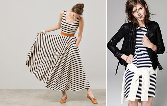 The maxi (in stripes no less).