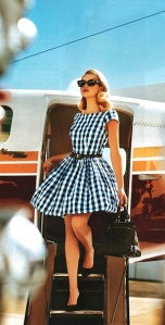 I would love to step of a plane (preferably private) in a dress like this.