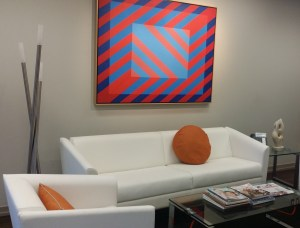 A magnificent piece by Joseph Kyle brings life to a downtown office.