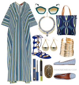 What to Wear On a Trip to Abu Dhabi - Missoni Long Kaftan Schutz Erlina Gladiator Sandal. Amp up the wow factor with layers of gilded accents, ...