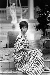 Jacqueline Bisset poses for Harper's Bazaar wearing a caftan