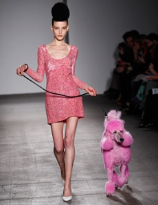 What you can wear on your day off to walk your pink poodle