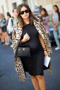 Miroslava Duma in Leopard Coat.