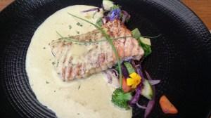 """Fantastic Chilean salmon at """"El Quinque"""" - a great little restaurant."""