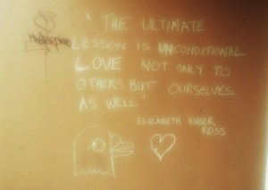 I saw this on a wall & it made me think