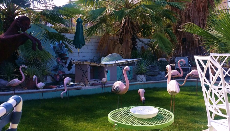 "100% plastic. At ""dazzles"" courtyard Palm Springs"