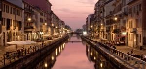 Naviglio canal at night