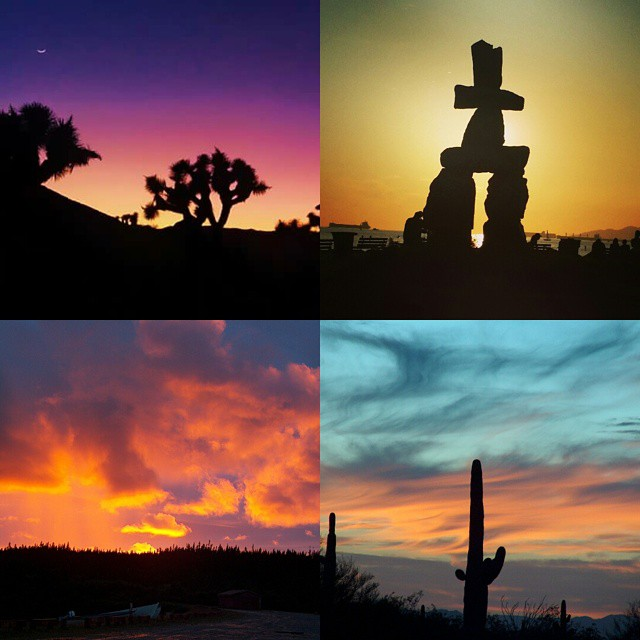 Various Sunsets in various places