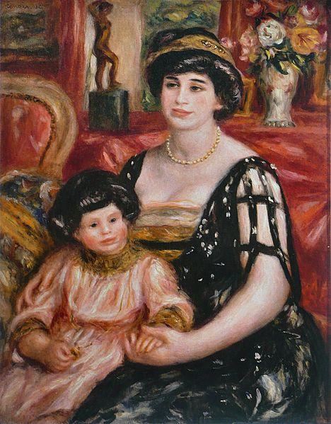 Madame Josse Bernheim-Jeune et son fils Henry [Mrs Josse Bernheim-Jeune and her son Henry]