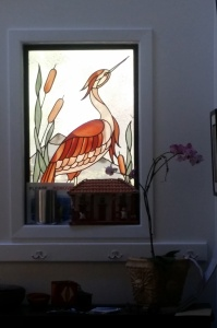 I like this stained glass piece in the entryway