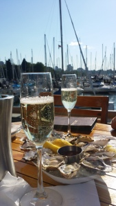 I drank champagne and ate oysters all summer long