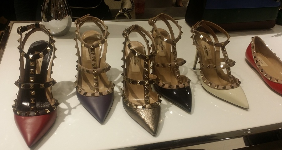 Love these Valentino Rock Star Stud heels and flats